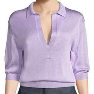 TIBI lavender rugby style top. XXS